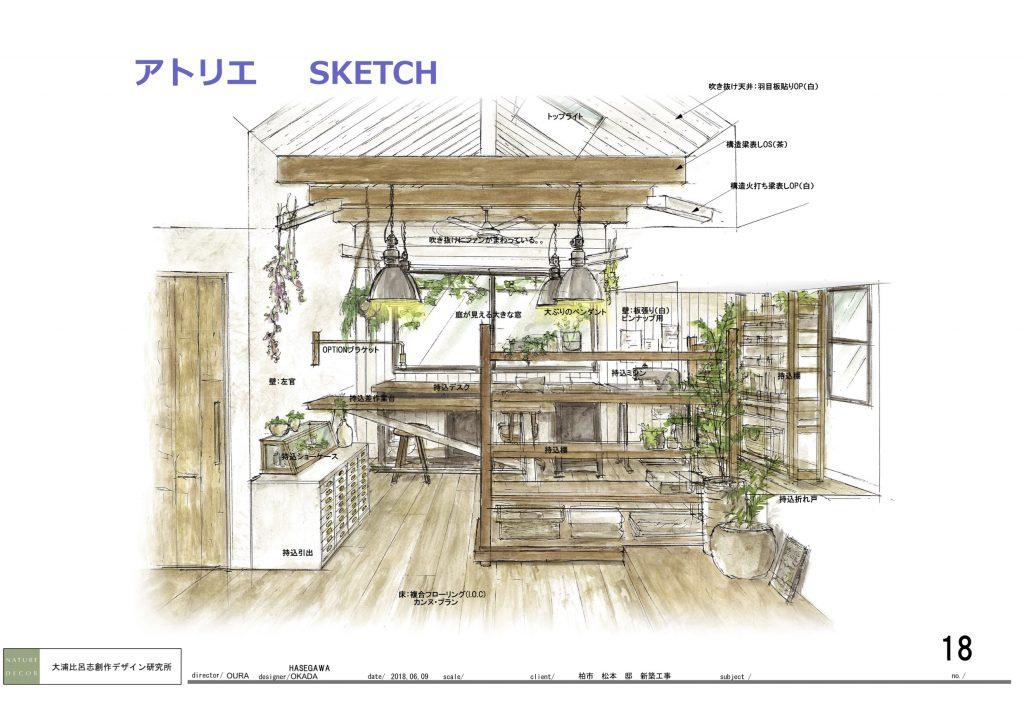 スケッチ-6(アトリエ)