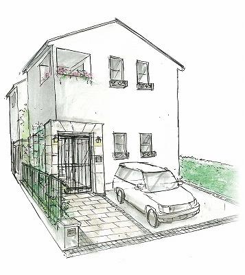ネイチャーデコールの定番スタイルのひとつ「フレンチシックの家」