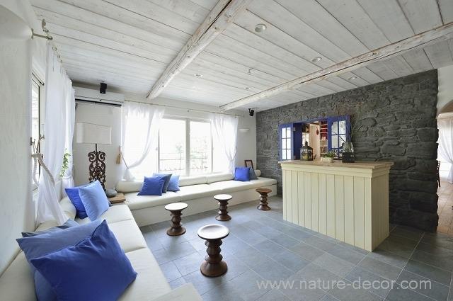 大田区N邸のテーマは「地中海の白い家」。